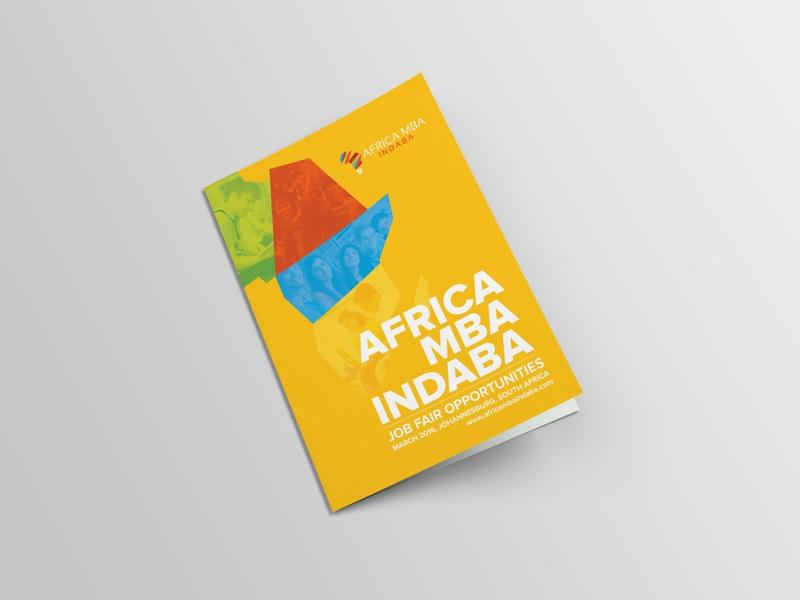 AFRICA MBA INDABA Brochure graphicdesign designer yellow opportunities job fair indaba mba africa brochure design design brochure