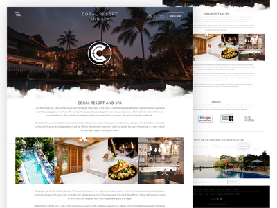 Coral Resort And Spa About Page Design coral reef about clouds mountain manali hotel spa resort coral india ui design responsive website design webdesign ux ui