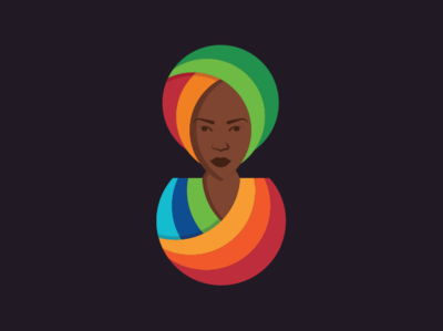 Woman dress traditional rainbow portrait sister tribe girl africa woman