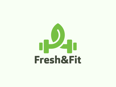 Fresh & Fit nature nutrition gym weight fitness health wellness leaf