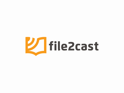 file2cast library android app icon software webapp note sound wave signal feed podcast audio read book