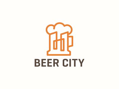 Beer City food town club cloud skyline city hops pub bar brewery brew shop drink craft beer