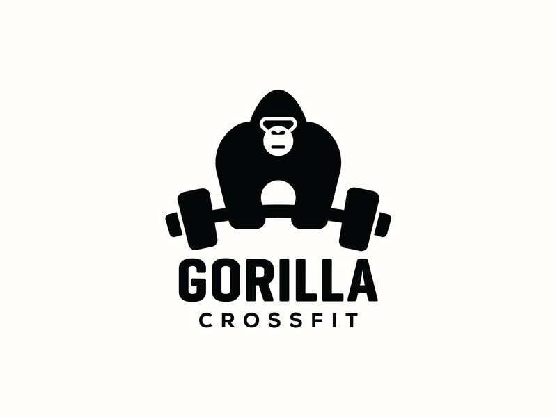 Gorilla Crossfit health power protein muscle iron wellness dumbell fitness gym weightlifting weight crossfit jungle primate animal monkey gorilla