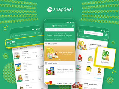 Snapdeal Instant snapdealinstant instant snapdeal user research visual design user experience ux uiux ui mobile ui mobile app mobileapp grocery app grocery