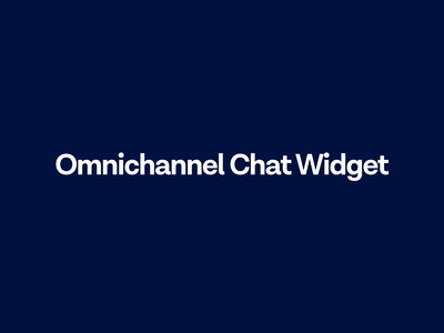 Introducing Omnichannel Chat Widget smbsolutions smb widget chatwidget messages messagebird messenger omnichannel chat livechat