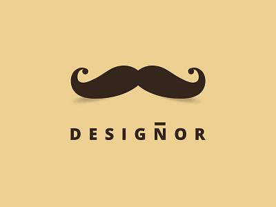 "Designor- Personal ""alter-ego"" logo designer logo mustache"