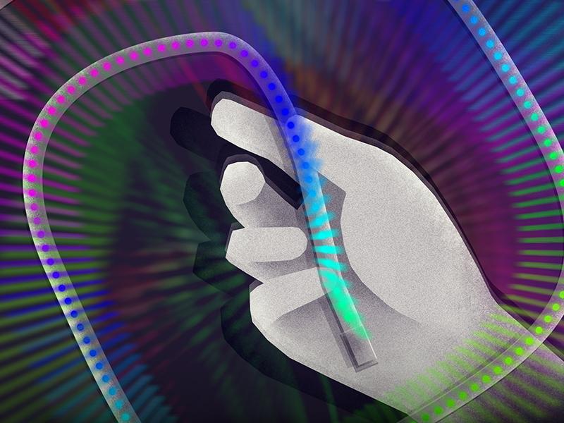 BlinkyTape - Illustration for packaging colors tape arduino light painting hand light illustration