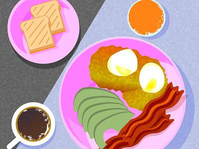 Breakfast vector branding design illustration