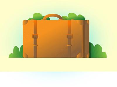 Suitcase illustration vector design