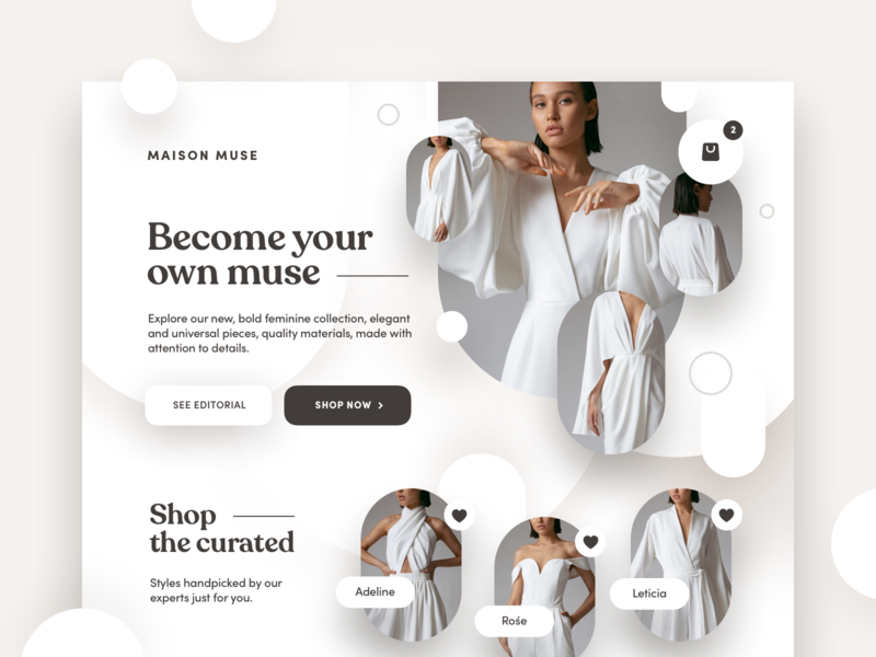 Maison Muse fashion collective ecommerce design sales sale shopping retail mobile productdesign interface ui ux ecommerce design clothes business app