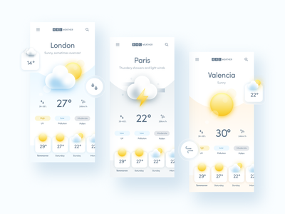 BBC Weather App design weather business ios interface app ux ui design redesign