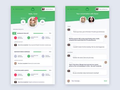 Basecamp app redesign - additional screens