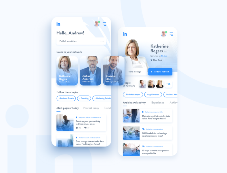 LinkedIn Redesign - H4 Design Library showcase - Part 1 experience interface user web linked in lightweight simple system modern designsystem ui ios ux app design redesign linkedin