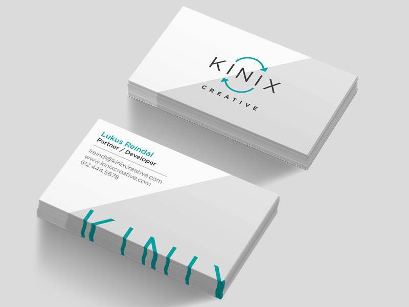 Kinix Creative | Business Cards business card branding identity logo typography