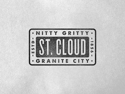 Minnesota Warm Up Series #13 st. cloud minnesota typography logo branding granite city badge texture