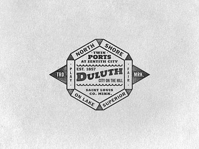 Minnesota Warm Up Series #15  duluth minnesota typography badge trade mark twin ports lake superior