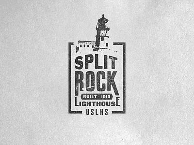 Minnesota Warm Up Series #16 split rock light house badge type lock up warm up texture