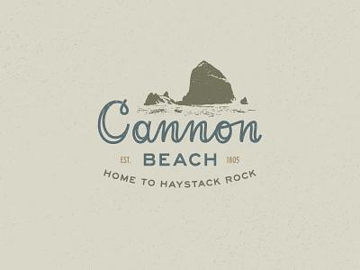 Cannon Beach ocean script lettering typography haystack rock explore cannon beach