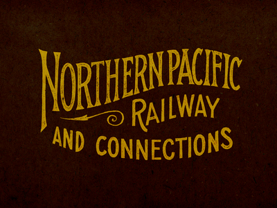 Northern Pacific Railway  texture serifs hand lettering typography lettering railroad northern pacific railway