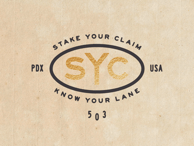 Stake Your Claim 2 usa portland graphic design branding type typography monogram stake your claim