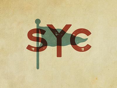 Stake Your Claim 5 texture flag monogram typography branding stake your claim