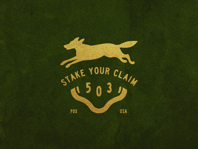 Stake Your Claim 8 typography gold foil illustration type wolf usa portland stakeyourclaim