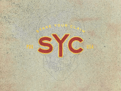 SYC pdx skull lockup type syc stake your claim