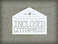 Inclosed Letterpress Envelope