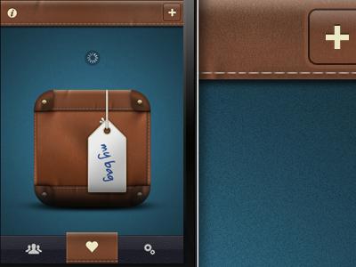 Leather App iphone app leather