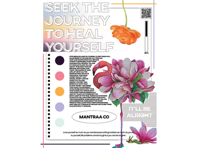 Seek the journey to heal yourself poster illustration selflove poster graphic design branding