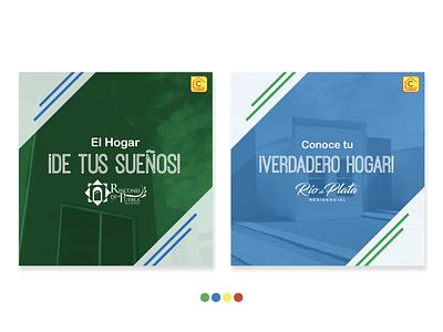 Grupo Cadena Ads design corporate branding adobe illustrator adobe ad mexico real state