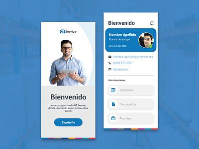 GT Service Corporate Mobile App creative uiux design mexico branding corporate adobe illustrator graphic design design ux ui