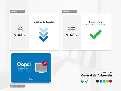 Sistema de Asistencia para Empleado corporate digital uiux adobe illustrator check attendance interface app design design graphic design ui