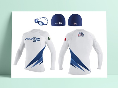 Acuatlón 1019 - ScubaCaribe uniform custom design uniform desing branding identity graphic support graphic design design branding design branding