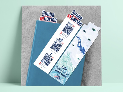 Bookmark - ScubaCaribe bookmark design bookmark branding identity graphic support graphic design design branding design branding