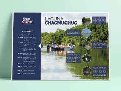 Itinerary - ScubaCaribe brochure design brochure graphic support graphic design design branding identity branding design branding