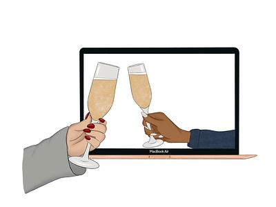 Cheers 2020 raster design procreate illustration graphic design