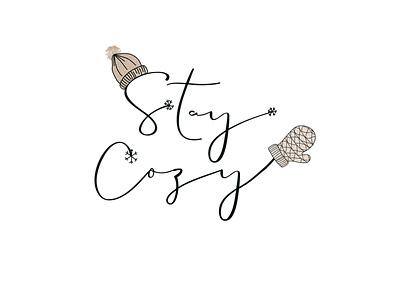 Cozy typography raster design procreate illustration graphic design