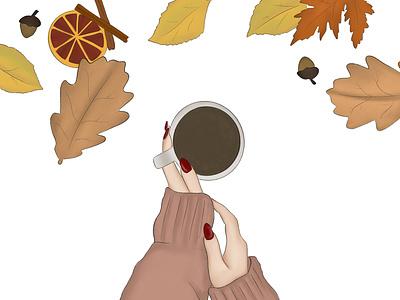 Fall raster design procreate illustration