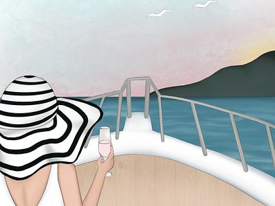 Coast raster procreate illustration