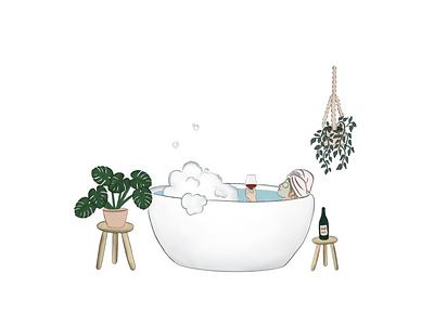 Plant lady raster procreate illustration