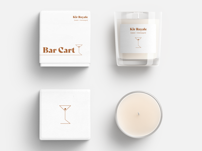 Bar Cart Candle - Kir Royle (Cassis + Champagne) vector logo branding typography graphic design design