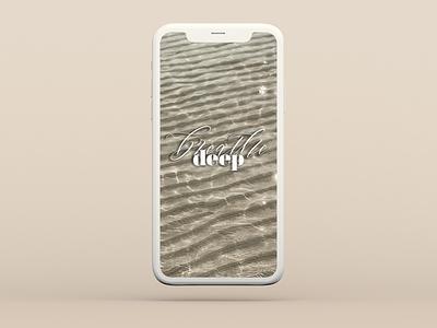 Breathe Deep breathe tide ocean sand beach adobe photoshop adobe typography graphic design design