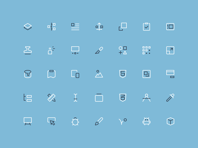 Design & Dev - Outline Mini Icons