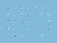 Design & Dev - Outline Mini Icons