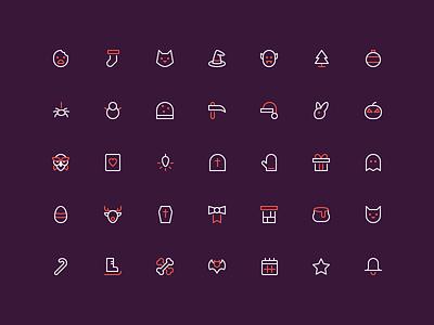 Holidays - 16px outline icons icons nucleo santa christmas xmas holidays