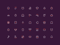Holidays - 16px outline icons