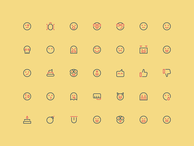 Emoticons - Outline 16px