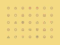 Emoticons - Outline 16px