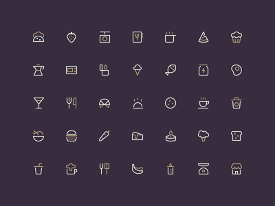 Food - Outline 16px nucleo pizza vegetable recipe icons food